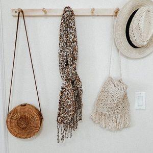 Rachele Accessories - Cheetah print scarf women's brown accessories OS